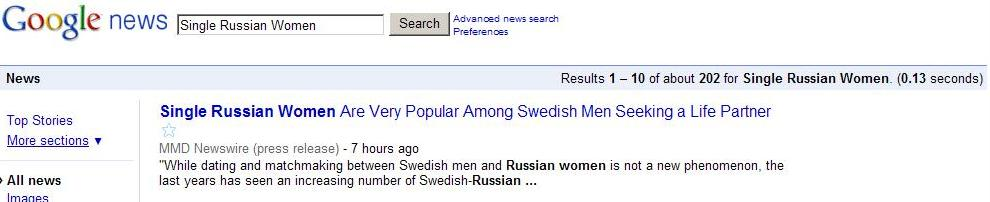 Googlenews Russian Women Signs He